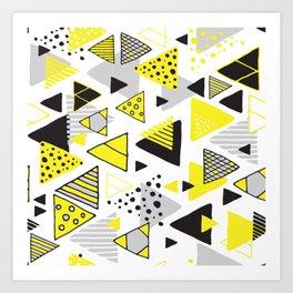 Triangles, random triangles (on white) Art Print