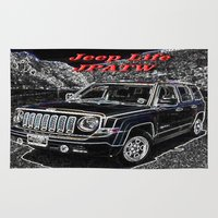 jeep Area & Throw Rugs featuring JEEP JPATW by Dmarmol