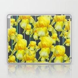 CHARCOAL GREY YELLOW IRIS GARDEN ABSTRACT Laptop & iPad Skin