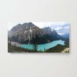 Peyto Lake Panorama Metal Print