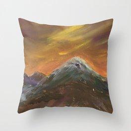 Sunset Mountains Throw Pillow