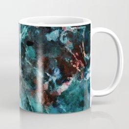 Abstract and Modern Teal Painting Coffee Mug