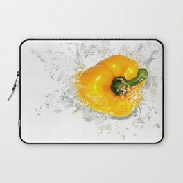 Yellow Pepper Splash Laptop Sleeve