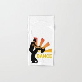dancing couple silhouette - brazilian zouk Hand & Bath Towel