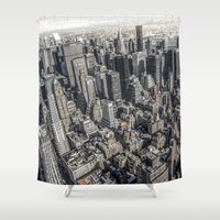 manhattan Shower Curtains featuring Manhattan by Nicklas Gustafsson