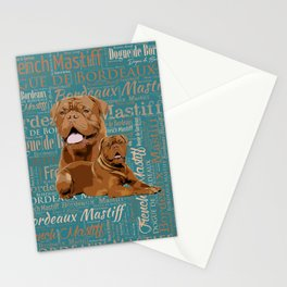 Dogue de Bordeaux Digital Art Stationery Cards