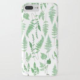 Ferns on White I - Botanical Print iPhone Case