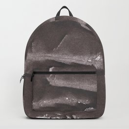 Black brown abstract Backpack