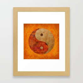 Yin and Yang original collage painting Framed Art Print