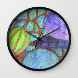 Still Life with Eggplant Wall Clock