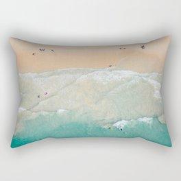 Beachgoers from above Rectangular Pillow