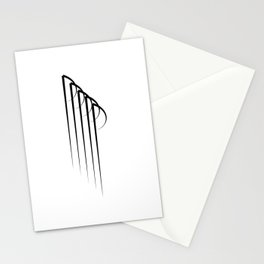 """ Eclipse Collection"" - Minimal Letter P Print Stationery Cards"