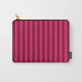 Raspberry Red Stripes Pattern Carry-All Pouch