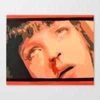 mia wallace Canvas Prints featuring Mia Wallace by yayanastasia