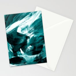 Abstract Artwork Petrol #1 Stationery Cards