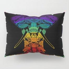Multi Coloured Patterned Elephant Pillow Sham