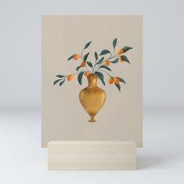 Vintage Gold vase  Mini Art Print