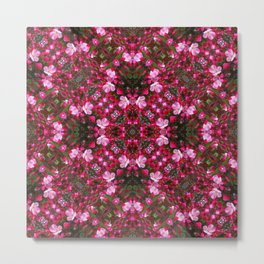 Spring blossoms kaleidoscope - Strawberry Parfait Crabapple Metal Print