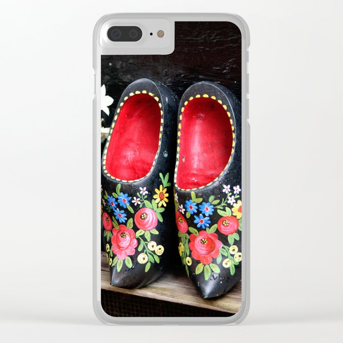 Clogs and te flowers Clear iPhone Case