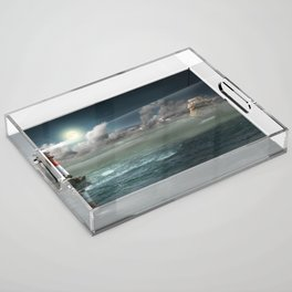 Lighthouse Under Back Light Acrylic Tray