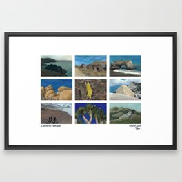 California Postcards Framed Art Print