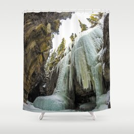 The Queen of Maligne Canyon, Jasper National Park Shower Curtain