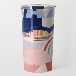 Vintage Brazil Poster Travel Mug