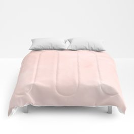 Seashell Pink Watercolor Comforters