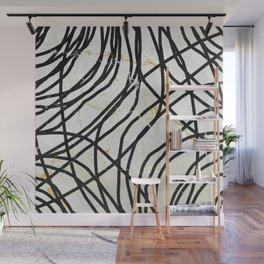 Abstract Mess - minimal, marbled, simple, modern design Wall Mural
