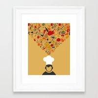 cook Framed Art Prints featuring Cook by aleksander1