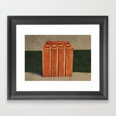 Brazilian's Brick Framed Art Print