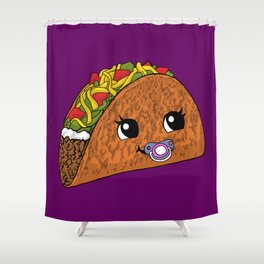 Baby Taco Shower Curtain