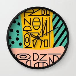 Strange alphabet Wall Clock