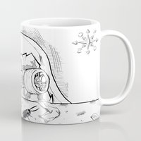"skate Mugs featuring ""Skate"" by Jorge Daszkal"