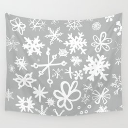 Snowflake Concrete Wall Tapestry