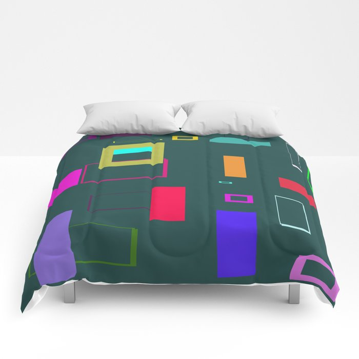 Squares and Rectangles Comforters