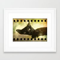 kitty Framed Art Prints featuring Kitty by SensualPatterns
