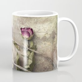 Three dried roses and barbed wire Coffee Mug