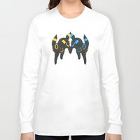 umbreon Long Sleeve T-shirts featuring Umbreon Duo by Kurew Kreations