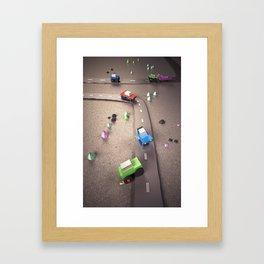 Mini Cars Framed Art Print