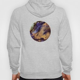 Purple and Gold Abstract Hoody
