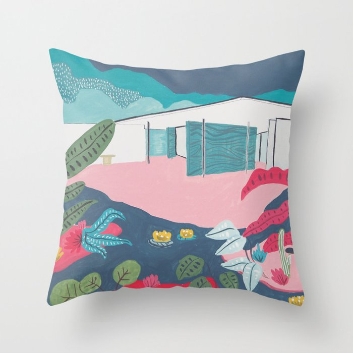 Barcelona Pavilion Mies Van Der Rohe Modernist Architecture Throw Pillow By Littlespidermonkey Society6
