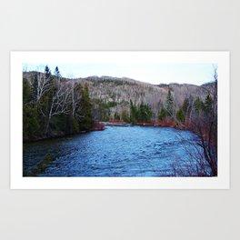 River in Nature Art Print