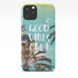 """""""Good Vibes Only."""" - Quote - Tropical Paradise Palm Trees iPhone Case"""