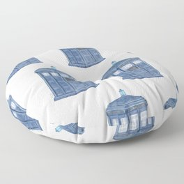 Police Blue box  Floor Pillow