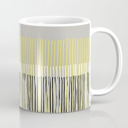 Yellow Rising - abstract stripes in yellow, grey, black & white Coffee Mug
