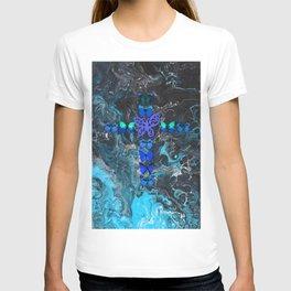 Turquoise Fire Cross T-shirt