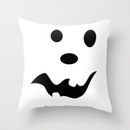 Scared Jack O'Lantern Face Throw Pillow