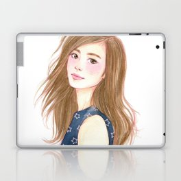 Be a star - watercolor art, girl drawing, girl portrait Laptop & iPad Skin