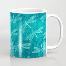Dragonfly Dance Blue Green Coffee Mug